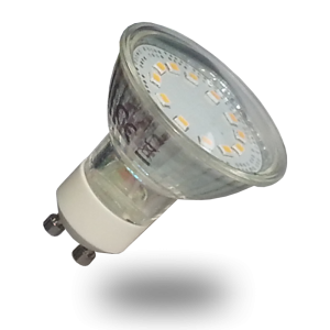 Bombilla LED - 3W GU10, Chip Epistar