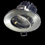 Foco Empotrable LED Redondo Orientable - 5W Plata