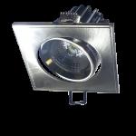 Foco Empotrable LED Cuadrado Orientable - 5W Plata