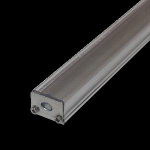 Perfil de aluminio para tiras LED con frente translucido