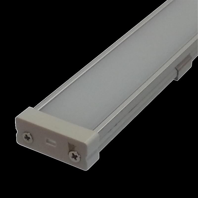 Perfil de aluminio ancho para tiras led con frente - Tiras de aluminio ...