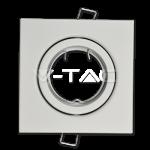 Aro GU10 basculante V-TAC cuadrado blanco