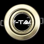 Aro GU10 basculante V-TAC Acero pulido