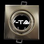 Aro GU10 basculante V-TAC cuadrado Acero pulido