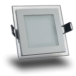 Panel Empotrable LED Cuadrado Cristal - 6W