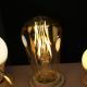 Bombilla LED - 4W Filamento ST64 Amber Cover E27 (EDISON VINTAGE)